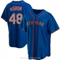 Youth Jacob Degrom New York Mets Replica Royal Alternate Road A592 Jersey