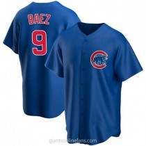 Youth Javier Baez Chicago Cubs #9 Authentic Royal Alternate A592 Jerseys