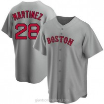 Youth Jd Martinez Boston Red Sox #28 Replica Gray Road A592 Jersey