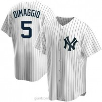 Youth Joe Dimaggio New York Yankees Authentic White Home A592 Jersey