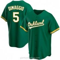 Youth Joe Dimaggio Oakland Athletics #5 Authentic Green Kelly Alternate A592 Jersey