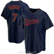 Youth Joe Mauer Minnesota Twins #7 Authentic Navy Alternate A592 Jerseys