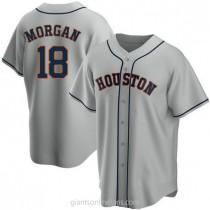 Youth Joe Morgan Houston Astros #18 Authentic Gray Road A592 Jersey
