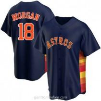 Youth Joe Morgan Houston Astros #18 Authentic Navy Alternate A592 Jerseys