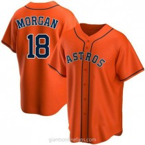 Youth Joe Morgan Houston Astros #18 Replica Orange Alternate A592 Jersey
