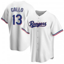Youth Joey Gallo Texas Rangers #13 Replica White Home A592 Jersey