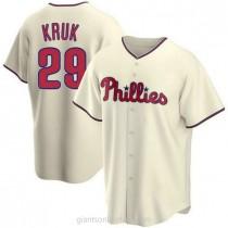 Youth John Kruk Philadelphia Phillies #29 Authentic Cream Alternate A592 Jerseys