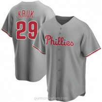 Youth John Kruk Philadelphia Phillies #29 Authentic Gray Road A592 Jerseys