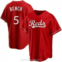 Youth Johnny Bench Cincinnati Reds #5 Authentic Red Alternate A592 Jersey