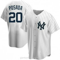 Youth Jorge Posada New York Yankees #20 Authentic White Home A592 Jersey