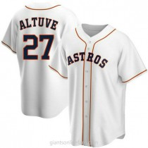Youth Jose Altuve Houston Astros #27 Authentic White Home A592 Jersey