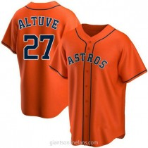 Youth Jose Altuve Houston Astros #27 Replica Orange Alternate A592 Jersey