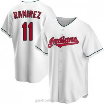 Youth Jose Ramirez Cleveland Indians #11 Authentic White Home A592 Jersey