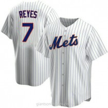 Youth Jose Reyes New York Mets #7 Authentic White Home A592 Jersey