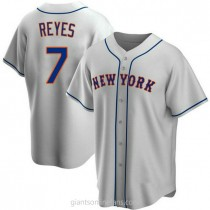 Youth Jose Reyes New York Mets #7 Replica Gray Road A592 Jersey