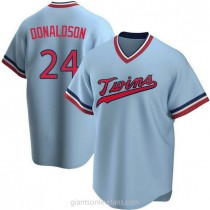 Youth Josh Donaldson Minnesota Twins #24 Authentic Light Blue Road Cooperstown Collection A592 Jersey