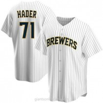 Youth Josh Hader Milwaukee Brewers #71 Authentic White Home A592 Jerseys