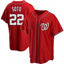 Youth Juan Soto Washington Nationals #22 Authentic Red Alternate A592 Jersey