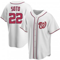 Youth Juan Soto Washington Nationals #22 Authentic White Home A592 Jersey
