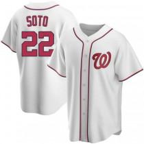 Youth Juan Soto Washington Nationals #22 Replica White Home A592 Jersey