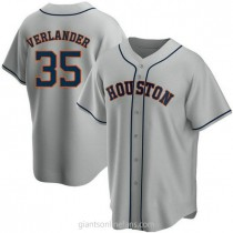 Youth Justin Verlander Houston Astros #35 Authentic Gray Road A592 Jersey