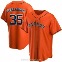 Youth Justin Verlander Houston Astros #35 Replica Orange Alternate A592 Jersey