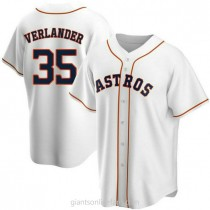 Youth Justin Verlander Houston Astros #35 Replica White Home A592 Jersey