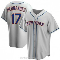 Youth Keith Hernandez New York Mets #17 Authentic Gray Road A592 Jerseys