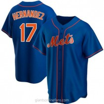 Youth Keith Hernandez New York Mets #17 Authentic Royal Alternate A592 Jersey