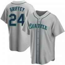 Youth Ken Griffey Seattle Mariners #24 Authentic Gray Road A592 Jersey