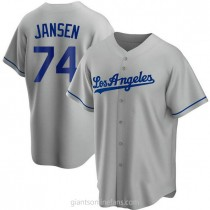 Youth Kenley Jansen Los Angeles Dodgers #74 Authentic Gray Road A592 Jerseys
