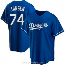 Youth Kenley Jansen Los Angeles Dodgers #74 Authentic Royal Alternate A592 Jerseys