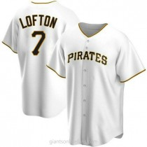 Youth Kenny Lofton Pittsburgh Pirates #7 Replica White Home A592 Jersey