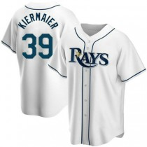 Youth Kevin Kiermaier Tampa Bay Rays #39 Authentic White Home A592 Jersey