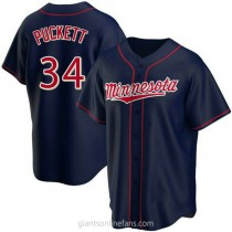 Youth Kirby Puckett Minnesota Twins #34 Authentic Navy Alternate Team A592 Jersey