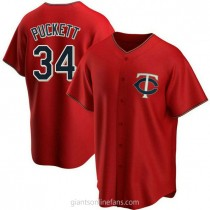 Youth Kirby Puckett Minnesota Twins #34 Authentic Red Alternate A592 Jerseys