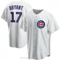 Youth Kris Bryant Chicago Cubs #17 Authentic White Home A592 Jersey