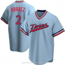 Youth Luis Arraez Minnesota Twins #2 Authentic Light Blue Road Cooperstown Collection A592 Jerseys