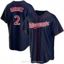 Youth Luis Arraez Minnesota Twins #2 Authentic Navy Alternate Team A592 Jersey