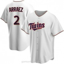 Youth Luis Arraez Minnesota Twins #2 Authentic White Home A592 Jersey