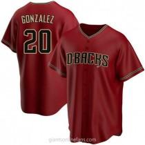 Youth Luis Gonzalez Arizona Diamondbacks #20 Authentic Red Alternate A592 Jerseys