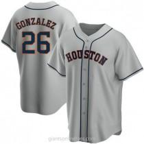 Youth Luis Gonzalez Houston Astros #26 Replica Gray Road A592 Jerseys