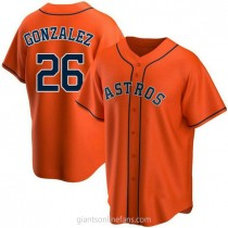 Youth Luis Gonzalez Houston Astros #26 Replica Orange Alternate A592 Jersey