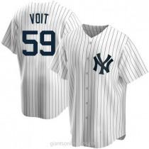 Youth Luke Voit New York Yankees Authentic White Home A592 Jersey