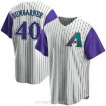 Youth Madison Bumgarner Arizona Diamondbacks #40 Authentic Purple Cream Alternate Cooperstown Collection A592 Jersey