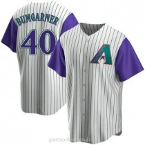 Youth Madison Bumgarner Arizona Diamondbacks #40 Authentic Purple Cream Alternate Cooperstown Collection A592 Jerseys