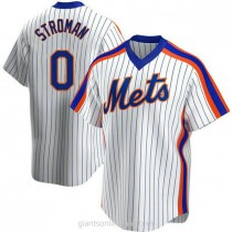 Youth Marcus Stroman New York Mets 0 Authentic White Home Cooperstown Collection A592 Jersey