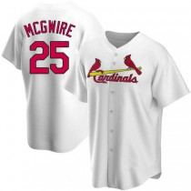 Youth Mark Mcgwire St Louis Cardinals #25 White Home A592 Jersey Authentic
