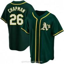 Youth Matt Chapman Oakland Athletics #26 Authentic Green Alternate A592 Jersey