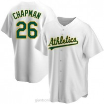 Youth Matt Chapman Oakland Athletics #26 Authentic White Home A592 Jersey
